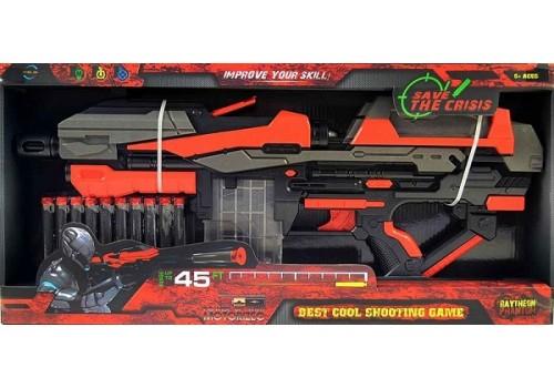 Оружие Бластер 10-зарядный с мягкими патронами FJ821