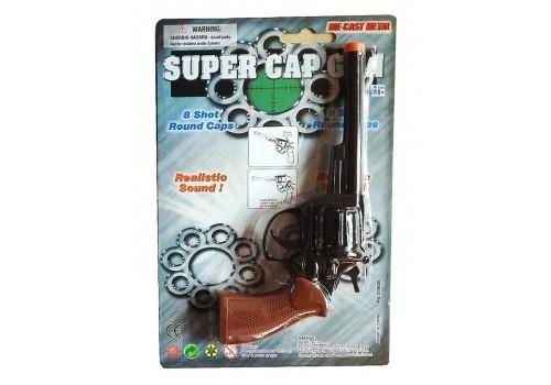 Пистолет металлический с пистонами 2090В