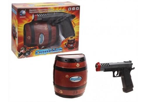 Набор Пистолет с бочкой свет, звук 2189