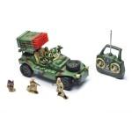 Радиоуправляемый Джип военный MioshiArmy с зенитной установкой