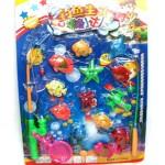 Игра рыбалка 13 рыбок, 2 удочки и сачок GB6675