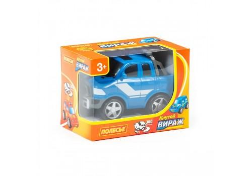 Крутой вираж гоночный автомобиль №4 инерционный в коробке