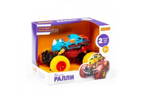 """""""Монстр ралли - Носорог"""" инерционный автомобиль со светом и звуком в коробке"""