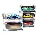 Машинка металлическая Такси цвет в ассортименте свет фар, музыка 621