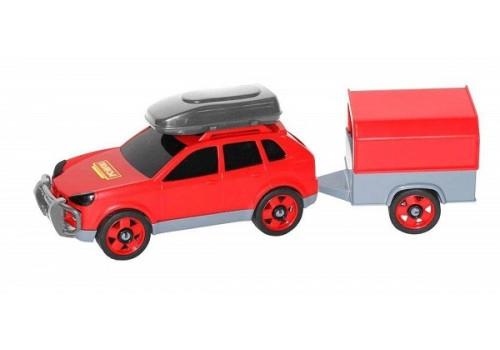 Автомобиль легковой с прицепом в сеточке 53688