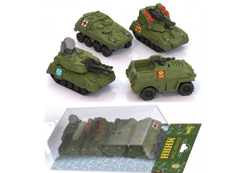 Военная серия мини 4 штуки в блистере 349/1