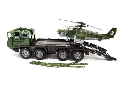 Военный тягач Щит с вертолетом 256 Нордпласт