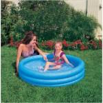 Бассейн надувной синий детский 114 х 25 см от 2-х лет И59416