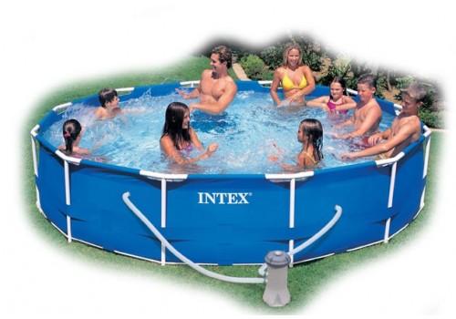 Бассейн каркасный INTEX 56996 366х76см (видео+ фильтр-насос)