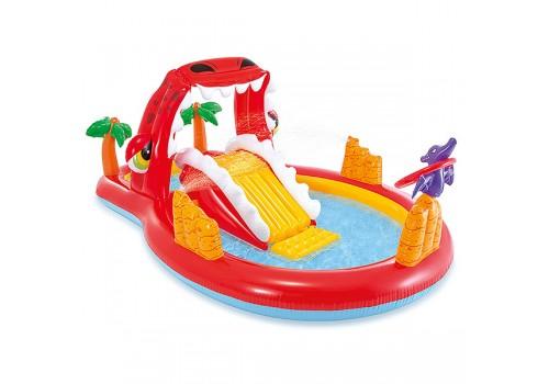 Игровой центр-бассейн Счастливый Дино с горкой распылителем от 3 лет 259х165х107см