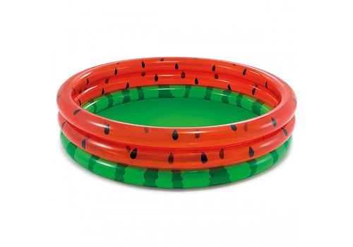 Бассейн надувной INTEX Арбуз три кольца от 2 лет 168х38см