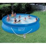 Бассейн надувной INTEX 56412 с видеоинструкцией, фильтр-насос 457х91 см