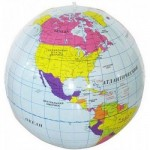 Надувной мяч Глобус 24 см