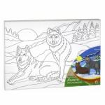 Набор для раскрашивания роспись на холсте Два волка Х-0325