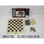 Шашки шахматы нарды (3 в 1) деревянное поле В15624 N585-Н