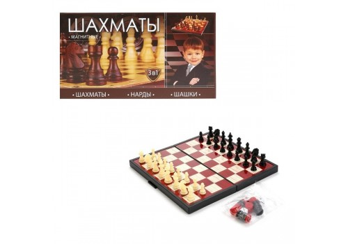 Игра три в одном (шахматы, шашки, нарды) 9831