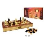 Шашки, шахматы, нарды с деревянным полем S2416