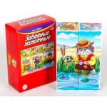 Кубики Забавные животные 6 штук 71008