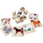 Кубики деревянные 9 шт Домашние животные 4444-3