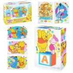 Кубики Винни и его друзья 6 штук пластмассовые 03807