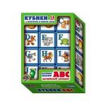 Кубики выдувные с бортиком Английский Алфавит 12 штук игра АВС 00351