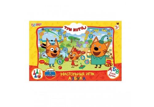 Настольная игра ходилка Три кота азбука 4690590181034