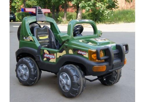 Автомобиль аккумуляторный с пультом управления зеленый JA-J012В