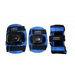 Комплект защиты для катания на роликовых коньках синий S
