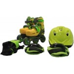 Роликовые коньки+защита+шлем в наборе размер 27-29, желтый