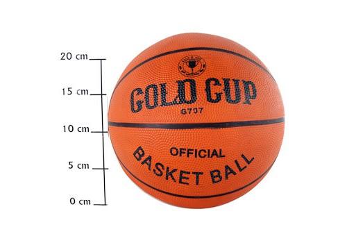 Мяч баскетбольный №7 резиновый  оранжевый Gold Cup
