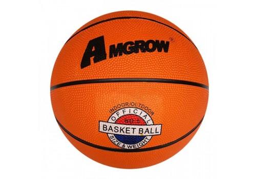 Мяч баскетбольный №7 резиновый оранжевый AMGROW