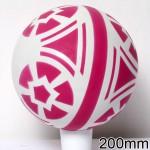 Мяч резиновый диаметр 200 мм лакированный с-33ЛПЦ