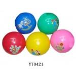 Мяч Забияка пластизоль с рисунком 22 см