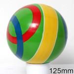 Мяч диаметр 125 мм лакированный с100ЛП