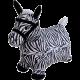 Надувная Лошадка (Зебра) попрыгун Тканевое покрытие