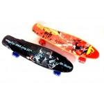 Пенни борд  Penny Board  пластиковый с рисунком со светящимися колесами
