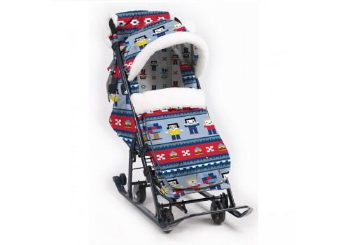 Санки-коляска НД7-5 Ника в стиле лего
