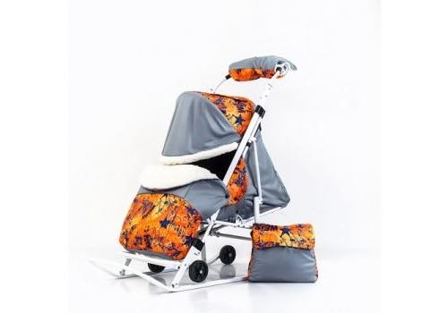 Санки коляска Skayline Super Sking Звезды