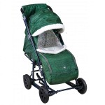 Санки-коляска Ника детям 8-1К вязанный зеленый