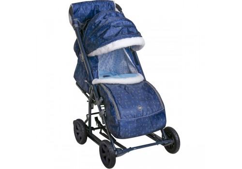 Санки-коляска Ника детям 8-1К принт северный
