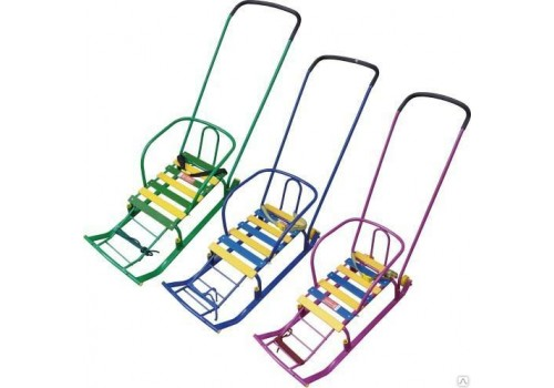 Санки детские Тимка 5 Комфорт с колесом и ручкой ТИМ5К