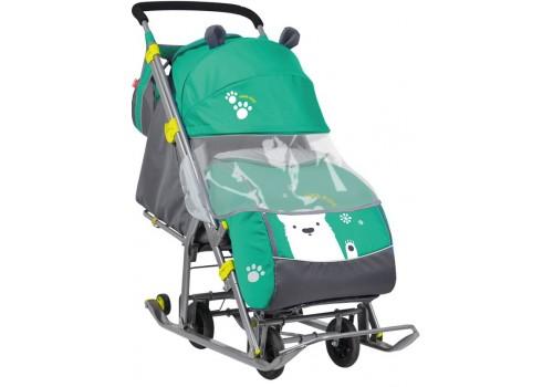 Санки-коляска с 4 колесами ника детям 7
