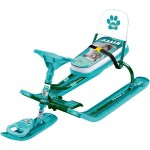 Снегокат Спорт 4-1 со спинкой Kitty зелёный ТС4-1