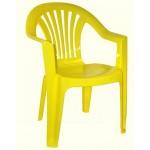 Кресло пластмассовое желтое М2526
