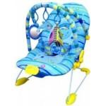 """Детское кресло-качалка """"Дельфин"""", игровая дуга, вибрация на батарейках"""