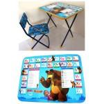 """Набор Познайка """"Маша и Медведь """"Английская азбука стол и стул"""