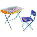 Комплект детской мебели Большие гонки с большим пеналом + стол + стул мягкий