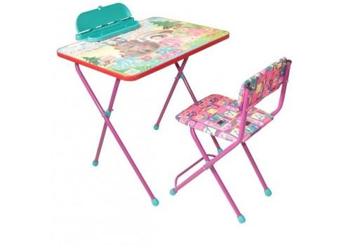 Комплект детской мебели Умняшки-первоклашки Принцессы фиолетовый