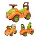 Каталка автомобиль для прогулок оранжевая Т3428