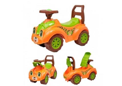 Каталка автомобиль для прогулок оранжевая Т3268